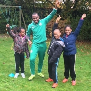Vincent Enyeama Shares Cute Photo Of Himself With His Three Children